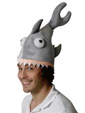 Mordedura de tiburón Sombrero De Comer cabeza animal mandíbulas Mar Halloween Vestido de fantasía para Hombre Damas Nuevo