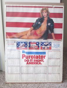 VINTAGE 1982 PUROLATOR CAR PARTS VERY SEXY CALENDAR DO IT RIGHT AMERICA RARE