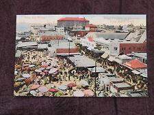 Vintage Postcard: Market at Pike & Beach, Long Beach Ca