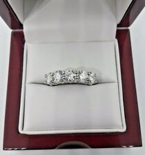 2.00 Carat Moissanite Ring Vvs1 E-F .925 5 Stones 40 Point Size 6