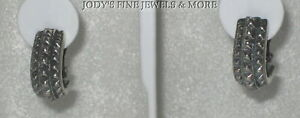 EXQUISITE ESTATE STERLING SILVER MOON CLIP CONTEMPORARY NON-PIERCED EARRINGS