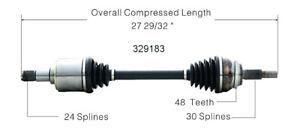 CV Axle Shaft Front Left WorldParts 329183 fits 04-10 Toyota Sienna