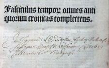 INKUNABEL ROLEWINCK FASCICULUS TEMPORUM PRÜSS STRASBOURG VOLLSTÄNDIG 1488