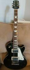 Black Epiphone Les Paul Standard Electric Guitar VGUC. Beauty ! w/gig bag.