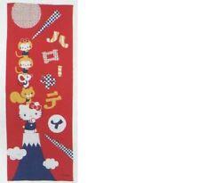 Japanese traditional towel TENUGUI COTTON SANRIO RED FUJIMOUNTAIN HELLO KITTY