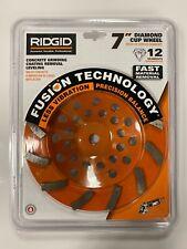 Ridgid 7 Diamond Cup Wheel 12 Segments Concrete Grinding Wheel Taw7012l1 New