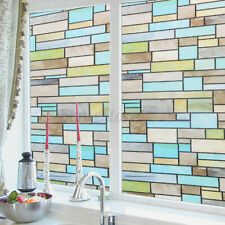 2mx0.45m Brick Static Cling Cover Frosted Window Glass Film Sticker Decor