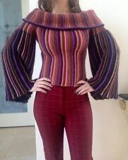 Authentic Missoni Run Way Gorgeous Wide Sleeve Cowl Neck Sweater Size It 38 Us 4