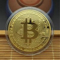 Gold Bitcoin Commemorative Round Collectors Coin Bit Coin Silver Plated CoiWLDE