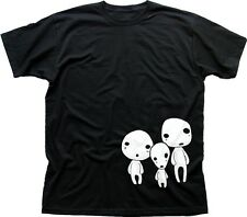 Mononoke Wald Menschen Familie Geist Kodama Miyazaki Baumwolle T-Shirt tc9443