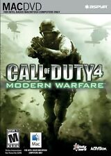 SEALED NEW Call of Duty 4 Modern Warfare Video Game for MAC dvd computer steam