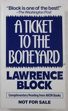 A TICKET TO THE BONEYARD LAWRENCE BLOCK 1991 AVON PB ADVANCE READING COPY ARC