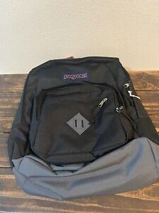 "JANSPORT City Scout Backpack Black/grey 15"" laptop sleeve"