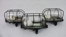 """1 von 3 alte Bunkerlampe """"Ruhla"""" Echtglas Bakelit 20 x 12,5 x 13 cm Top Zustand"""