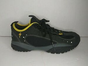 Specialized Rockhopper Cycling Shoes Size 7 US Black/Yellow w/ Cleats 6102-4138
