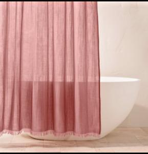 Gauze Shower Curtain Rose - Casaluna NEW