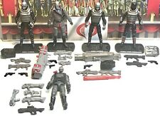 Modern GI JOE Mars Trooper Destro Army Builder Lot Of 5 Figures 25th ROC POC
