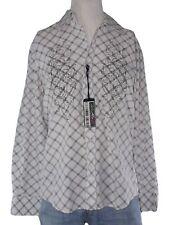 box one camicia uomo bianco quadri manica lunga made italy taglia xl extra large