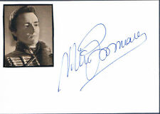 """Vittorio Gassman 1922-2000 genuine autograph signed card 4x6"""" w.attached picture"""