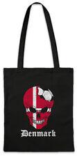 Denmark Football Skull I Shopper Shopping Bag danish Soccer Flag World