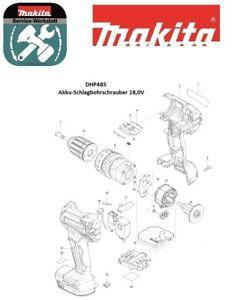 Makita Ersatzteile für Akku-Schlagbohrschrauber DHP485Z