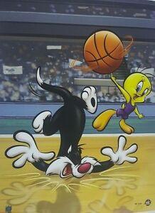 """Sylvester & Tweety Basketball"" LE 16 x 20 Giclee Classic Moments COA"