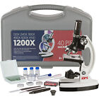 AMSCOPE-KIDS 120X-1200X 48pc Metal Arm Educational Starter Biological Microscope