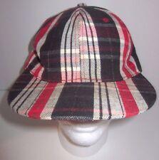 Pitt Bull Fitted Hat Cap - Plaid Tartan - Gold Metallic - Size 7 5/8