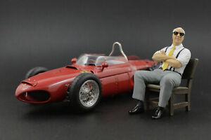 Enzo Ferrari (3) sitting Figure for 1:18 Burago F40 250GTO BBR RARE! ! NO CAR !