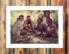 Native American Dinner Paintings HD Print on Canvas Home Decor Wall Art Pictures