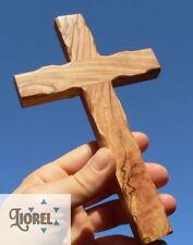 "Large Hand Made Cross - Bethlehem Olive Wood 8"" Wall or Hold Christian Holy Land"