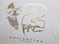 New Tupac Shakur T-Shirt Gold Foil & Rhinestones XL