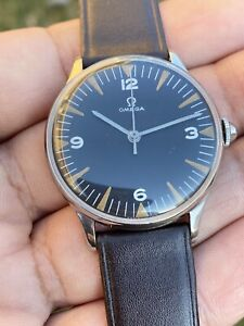 Vintage Rare Omega Military Tipe Cal:30sct2 Stainless Steel Man's Watch