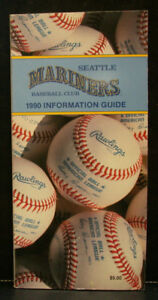 1990 Seattle Mariners Official Media Press Guide, 208 Pages of Facts & Fun!