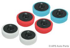 6 Pack Sponge Heads for Valeting Car Polisher Buffer Polishing Machine Mop New
