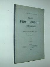 ATLAS du TRAITE Photographique STEREOSCOPIQUE DONNADIEU 1892 photo photographie