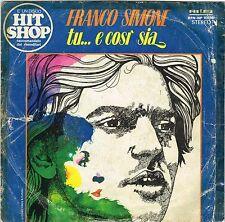 45 giri FRANCO SIMONE - Tu... e cosi sia / Che cosa vuoi? (1976)