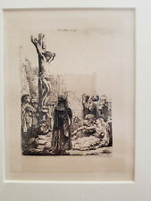 REMBRANDT VAN RIJN The Crucifixion: Small Plate.  circa 1635