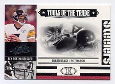 2007 Absolute Memorabilia BEN ROETHLISBERGER Rare TOOLS OF TRADE #17/50 Steelers