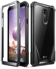 For LG Stylo 4 Rugged Case Black Poetic Guardian With Built-in-Screen Protector