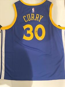 Stephen Curry Signed Warriors Nike NBA Authentic Vaporknit Auto Jersey FANATICS