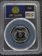 1999-S 25c Georgia SILVER State Flag Label Quarter Proof PCGS PR70DCAM