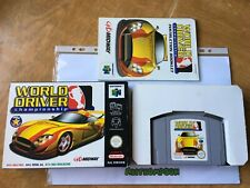 World driver championship game n64 Nintendo 64 boxed complete with manual PAL