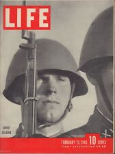 LIFE February 12,1945 Soviet Soldier / Russians Drive On Berlin / Trench Foot