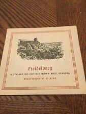 vintage 16 Heidelberg Art Pen and Ink sketches Booklet Antique German Book Art