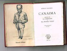 Romulo Gallegos Canaima La Rebelion 3 Novelas Crisol Aguilar Minibook Leather