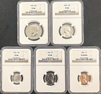 1964 SILVER 5 COIN PROOF SET PF 68 ***BEAUTIFUL SET***