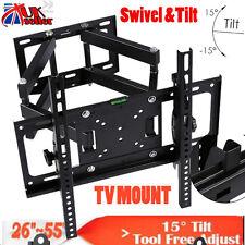 New LCD LED TV Wall Bracket Mount Tilt & Swivel For 26 32 38 40 42 46 50 52 55+