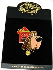 Rare Le 100 Disney Auction Pin✿ Lady & Tramp Trusty Dogs House Collar Bloodhound