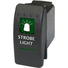 Rocker switch 524G 12V Strobe Light ARB Type ON OFF green waterproof ATV Polaris
